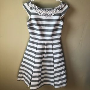 Kate Spade Mirella Dress Grey and White